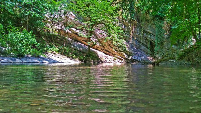 фото водопада в каньоне псахо