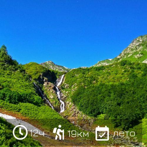 Поход на Ачипсинские водопады