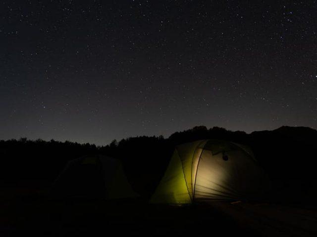 Звезды в горах в походе