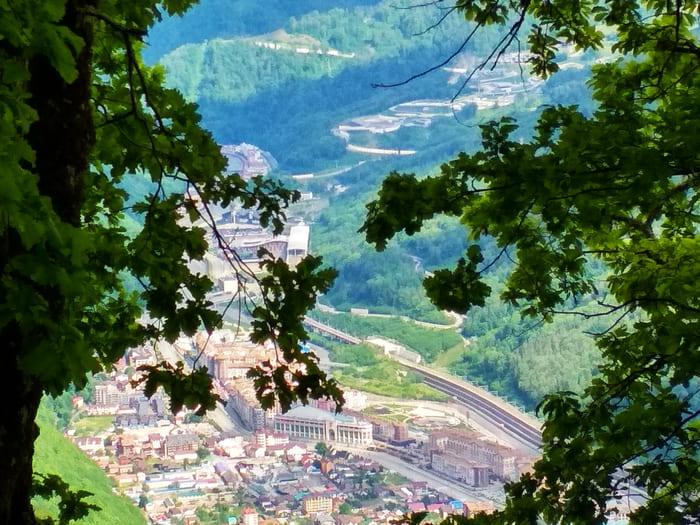 Фото курорта красная поляна сверху